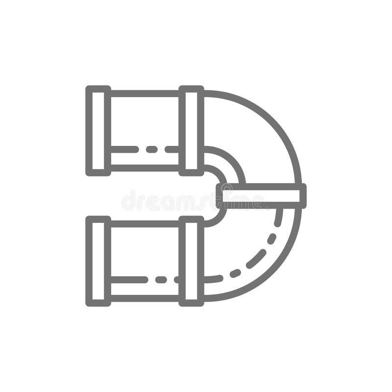 Krökt tunnel för lekplatslinjen symbol stock illustrationer