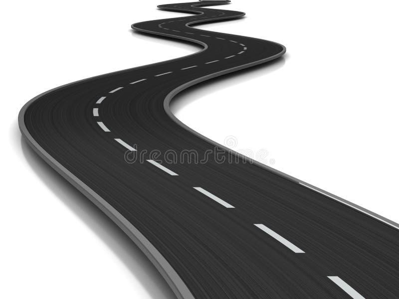 krökt väg vektor illustrationer