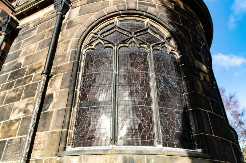 Krökt vägg för målat glassfönster royaltyfri bild