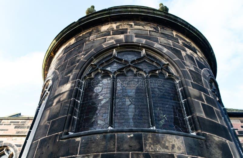 Krökt vägg för Stanied exponeringsglas fotografering för bildbyråer