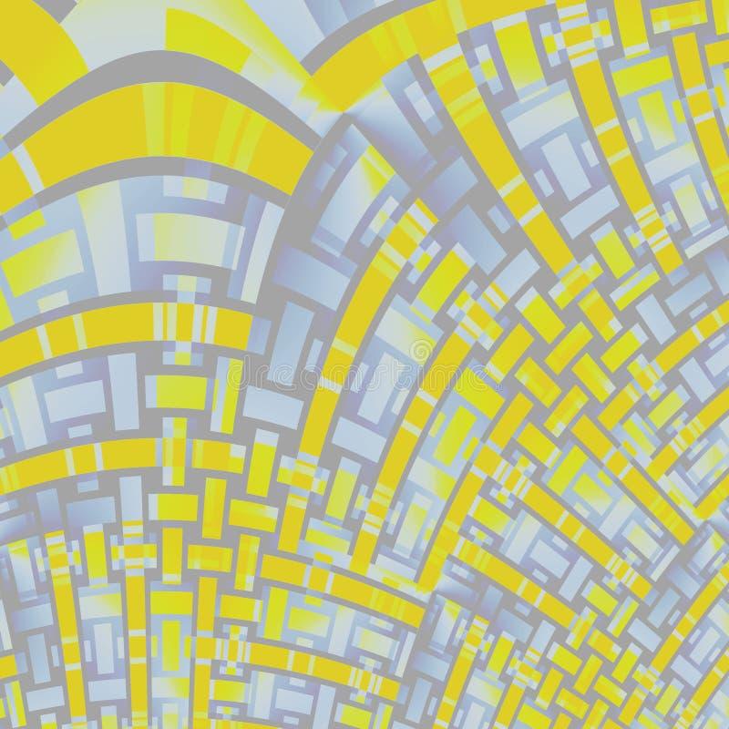 Krökta grå färger för lilor för bandmodellguling diagonalt vektor illustrationer