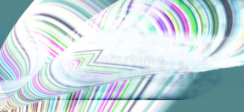Krökta linjer i olika skuggor på vit bakgrund stock illustrationer