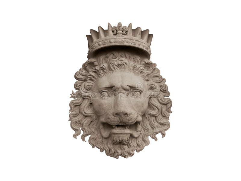 krönad lion royaltyfri bild