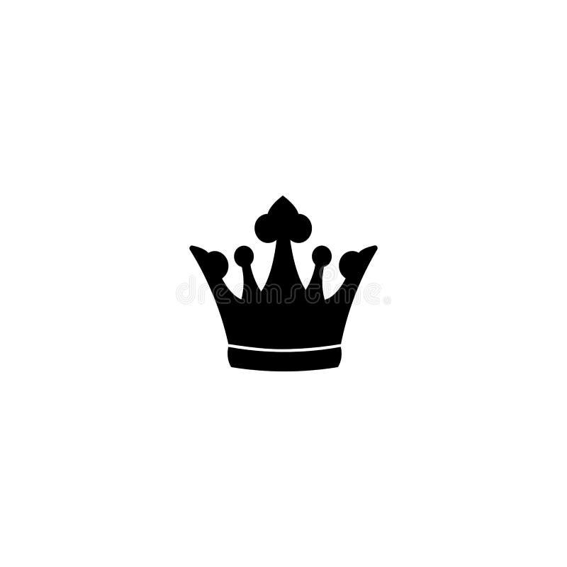 Krönen Sie die Ikone in der modischen flachen Art lokalisiert auf weißem Hintergrund Auch im corel abgehobenen Betrag vektor abbildung