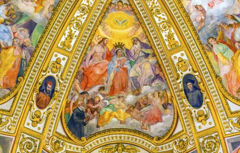 Krönende Mary Chiesa San Marcello al Corso-Kirche Rom Italien lizenzfreies stockbild