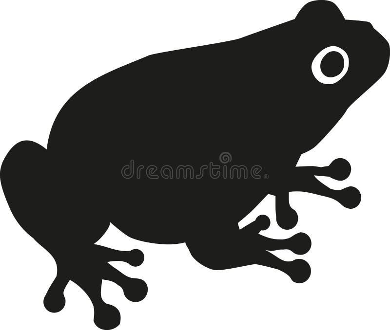Kröten-Schattenbild vektor abbildung