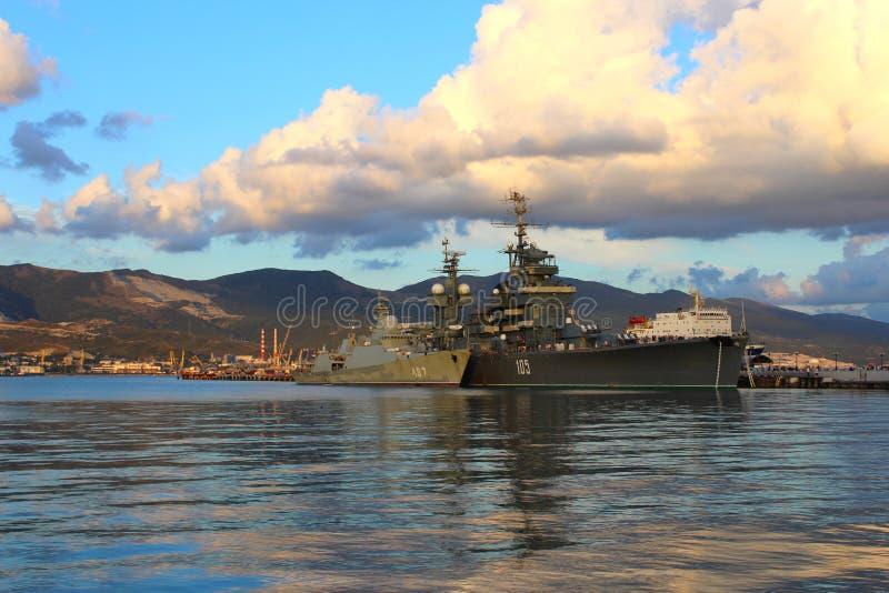 Krążownika Admiral Kutuzov w Novorossiysk zdjęcie stock