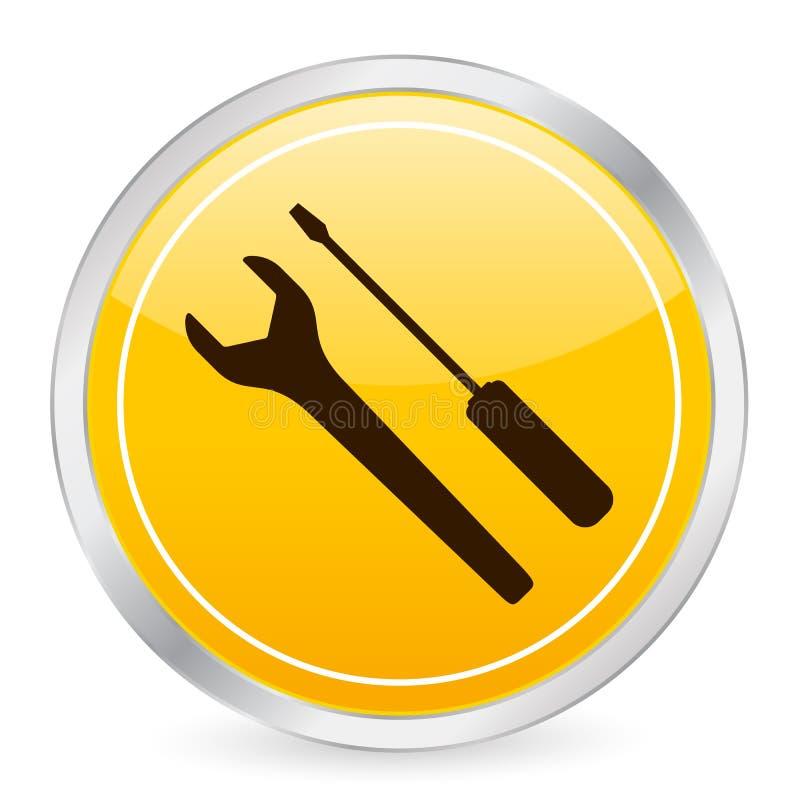 krąg ikony narzędzia żółty