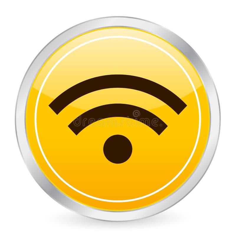 krąg ikony swr symbolu żółty ilustracji