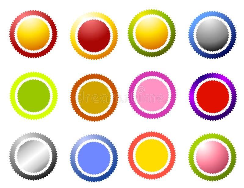 krąg krawędzi ikon sawtooth ilustracja wektor