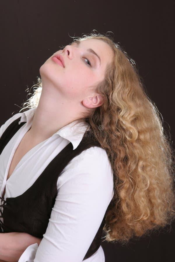 kręcone włosy fotografia royalty free