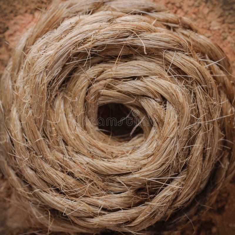 Kręcony konopie sznurek zdjęcie royalty free