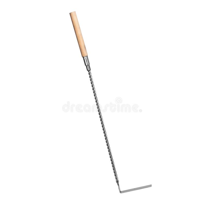 Kręcony prosty stalowy grzebak z frosted glosą dla graby zdjęcie stock