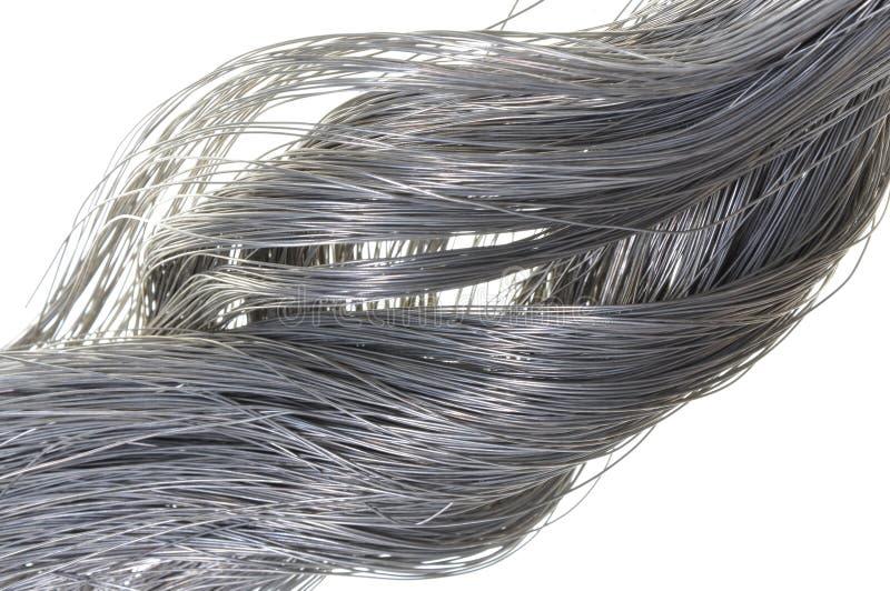 Kręcony stalowy drut obrazy stock