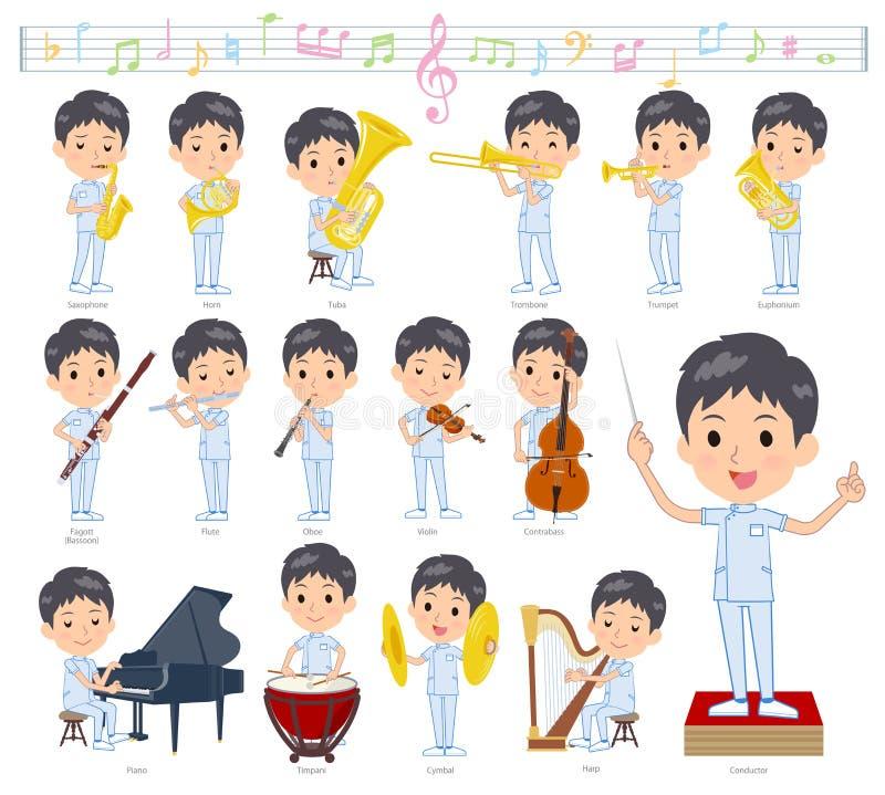 Kręgarz men_classic muzyka ilustracja wektor