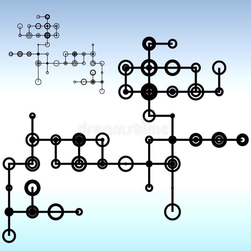 kręgi ilustracja wektor