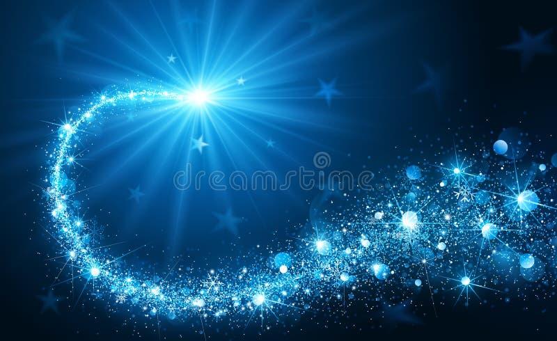 Kr azul da estrela v do Natal ilustração do vetor