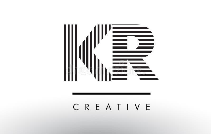 Download Kr K R Black And White Lines Letter Logo Design Stock Vector Illustration Of