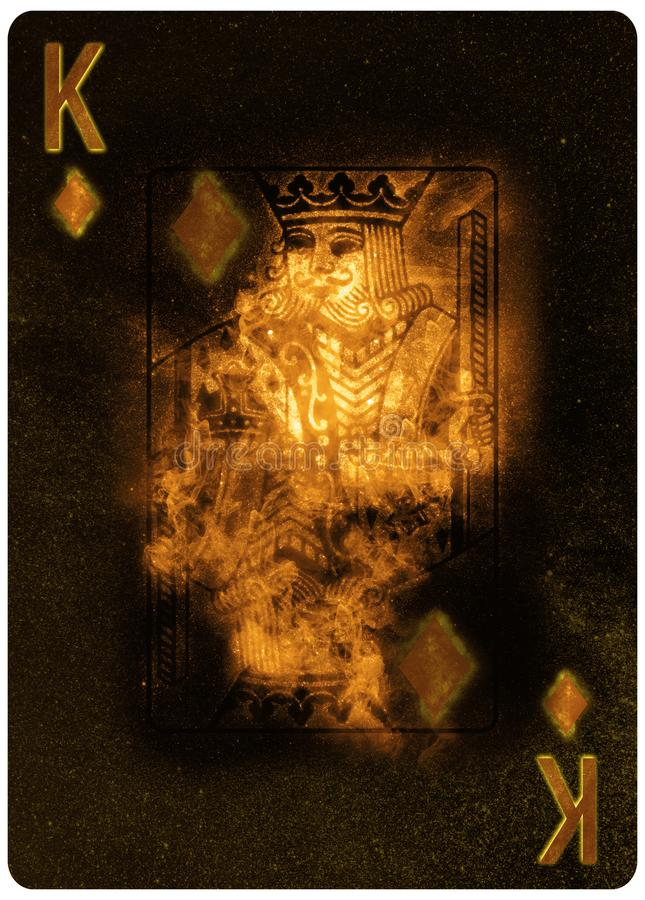 Kr?lewi?tko karowy karta do gry abstrakta t?o zdjęcia royalty free