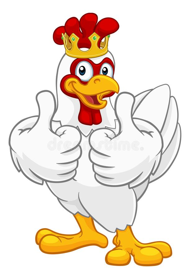 Kr?lewi?tko kurczaka koguta Cockerel korony Ptasia kresk?wka ilustracji