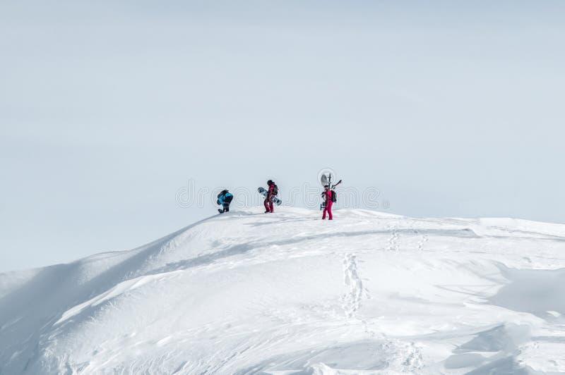 Krańcowa sport jazda na snowboardzie zdjęcie stock