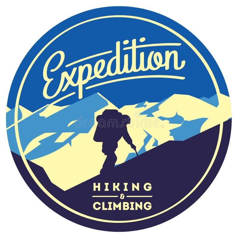 Krańcowa plenerowa przygody odznaka Wysokie góry ilustracyjne ilustracji