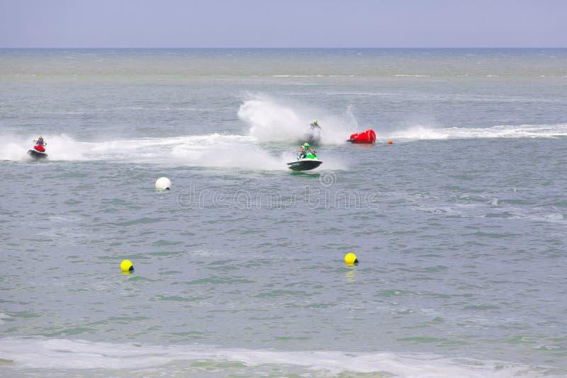 Krańcowy atleta konkurent na dżetowej shi łodzi obrazy royalty free