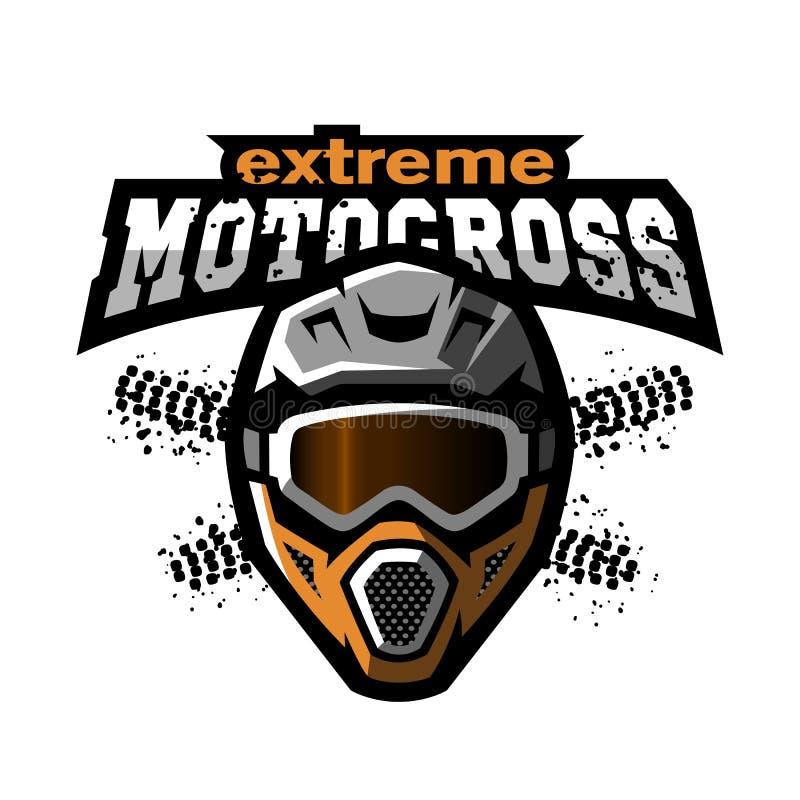 Krańcowy motocross logo ilustracji