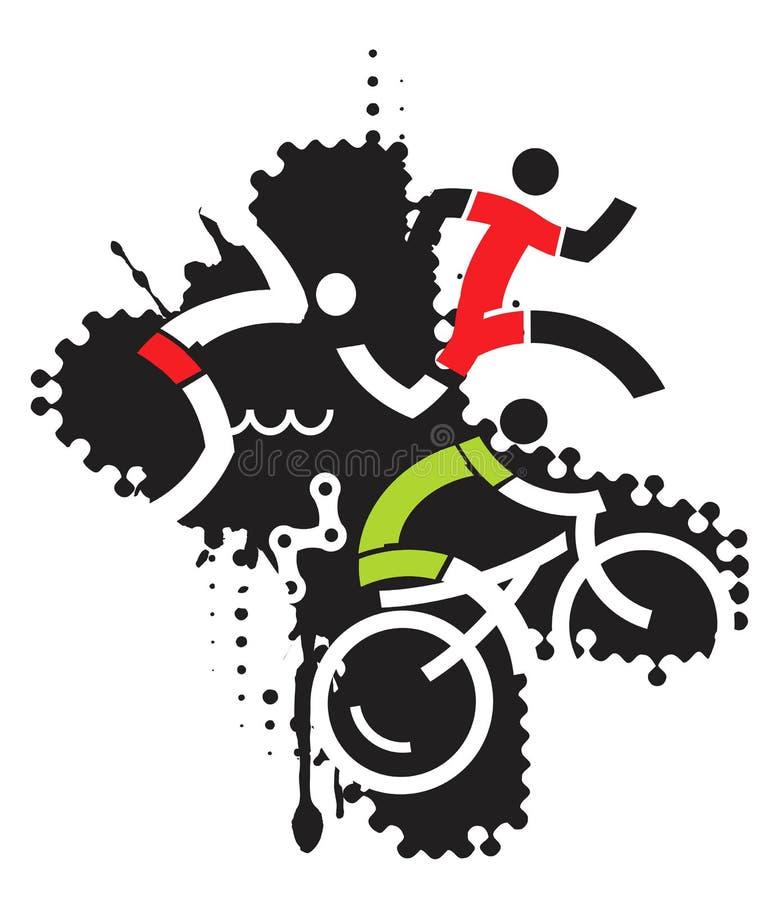 Krańcowy sporta triathlon ilustracja wektor