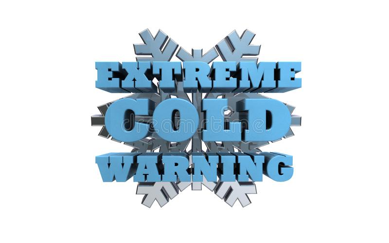 Krańcowy Zimny ostrzeżenie ilustracja wektor