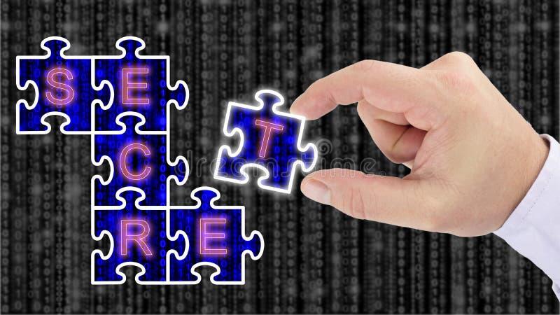 Kraść cyfrowych sekrety i wyjawiający ilustracja wektor