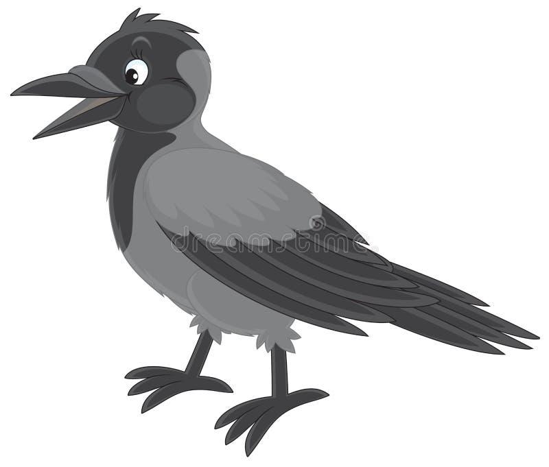 Kraai vector illustratie