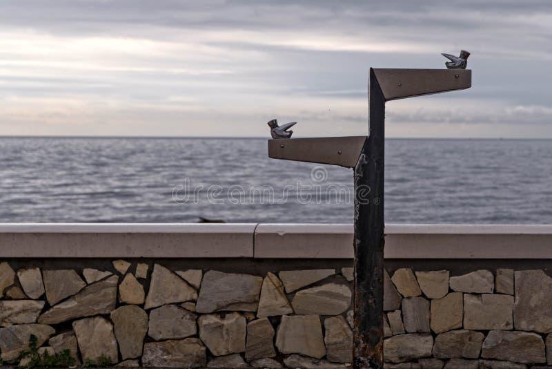 Kraan die in het overzees varen royalty-vrije stock fotografie