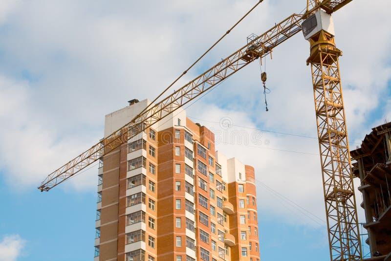 Kraan en bouw stock afbeelding