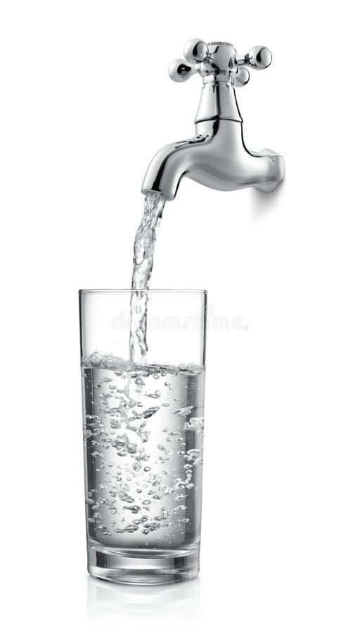 Kraan en water stock fotografie