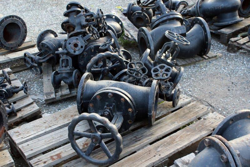 Kraan voor olie stock fotografie