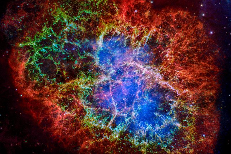 Krab mgławica Elementy ten wizerunek meblujący NASA obraz royalty free
