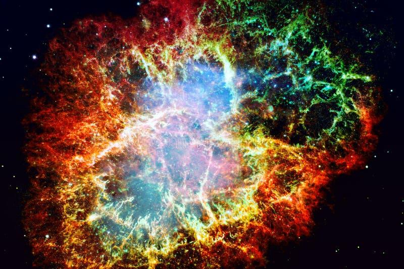 Krab mgławica Elementy ten wizerunek meblujący NASA zdjęcia royalty free