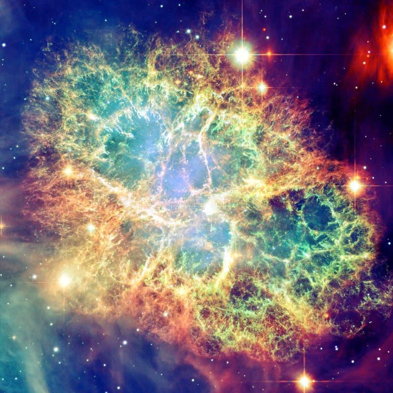 Krab mgławica Elementy ten wizerunek meblujący NASA zdjęcia stock