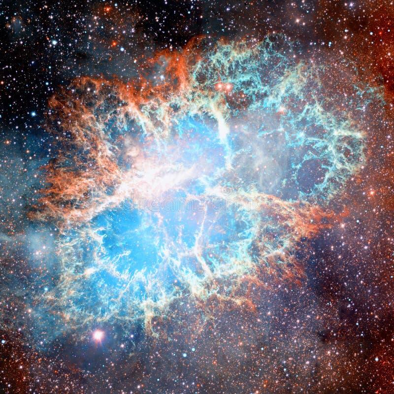 Krab mgławica Elementy ten wizerunek meblujący NASA zdjęcie stock