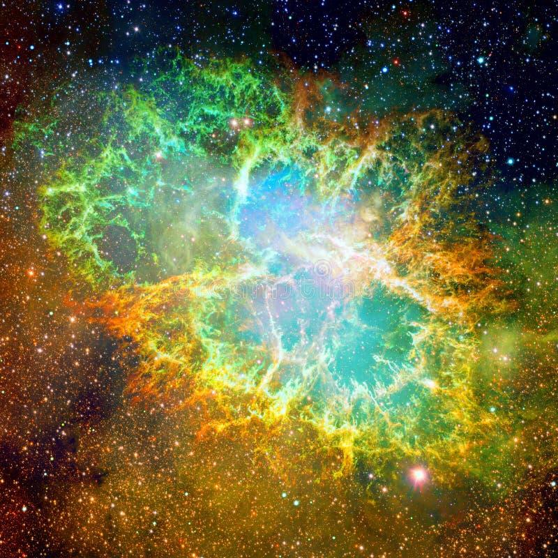 Krab mgławica Elementy ten wizerunek meblujący NASA fotografia stock