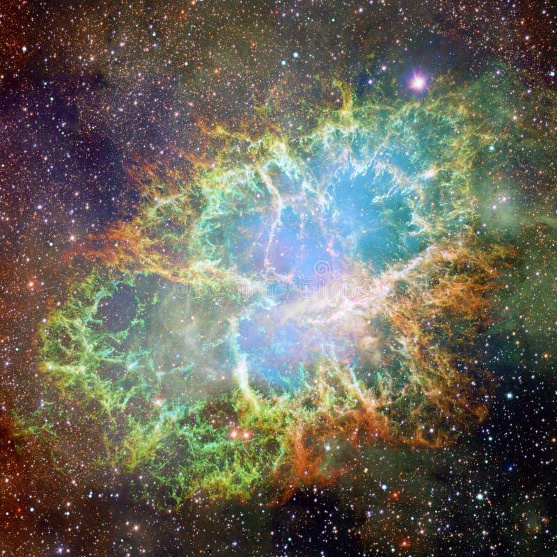 Krab mgławica Elementy ten wizerunek meblujący NASA ilustracja wektor