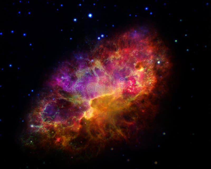 Krab mgławica Elementy ten wizerunek meblujący NASA royalty ilustracja