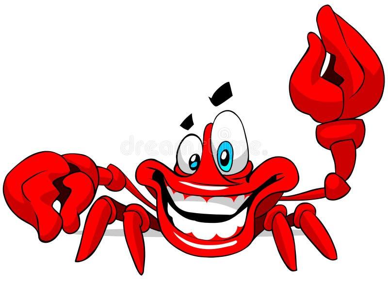 krab szczęśliwy royalty ilustracja