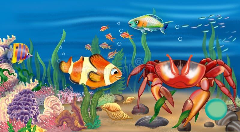 Krab stock illustration Illustration of backgrounds 69702178