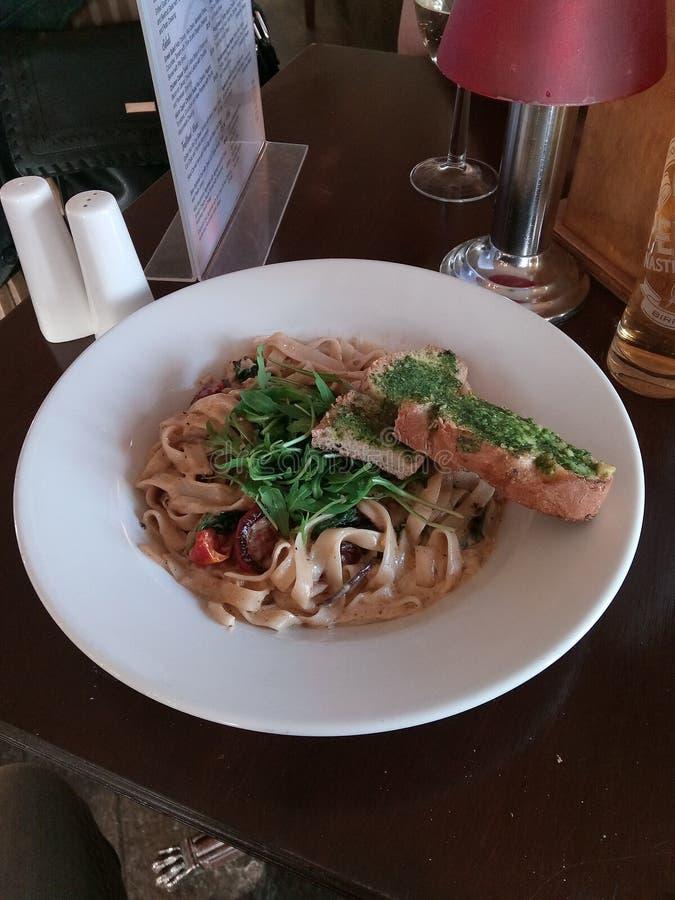 Kraba i chili tagliatelle zdjęcie stock