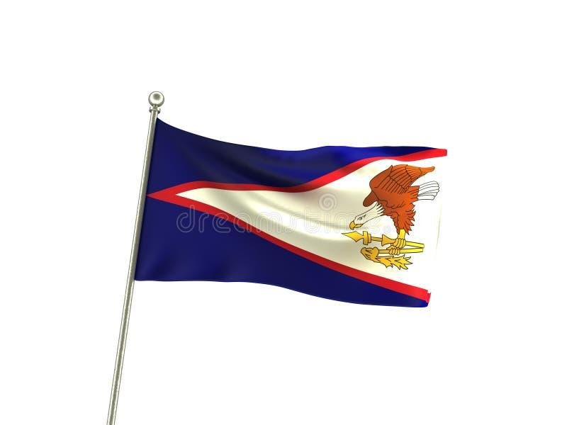 Krabb American Samoa flagga stock illustrationer