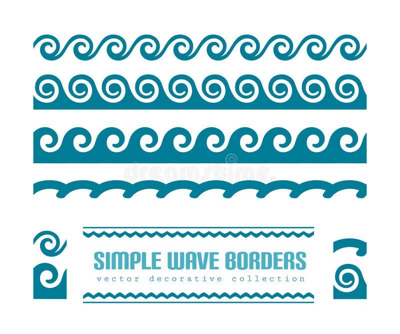 Krabb gränsuppsättning vektor illustrationer
