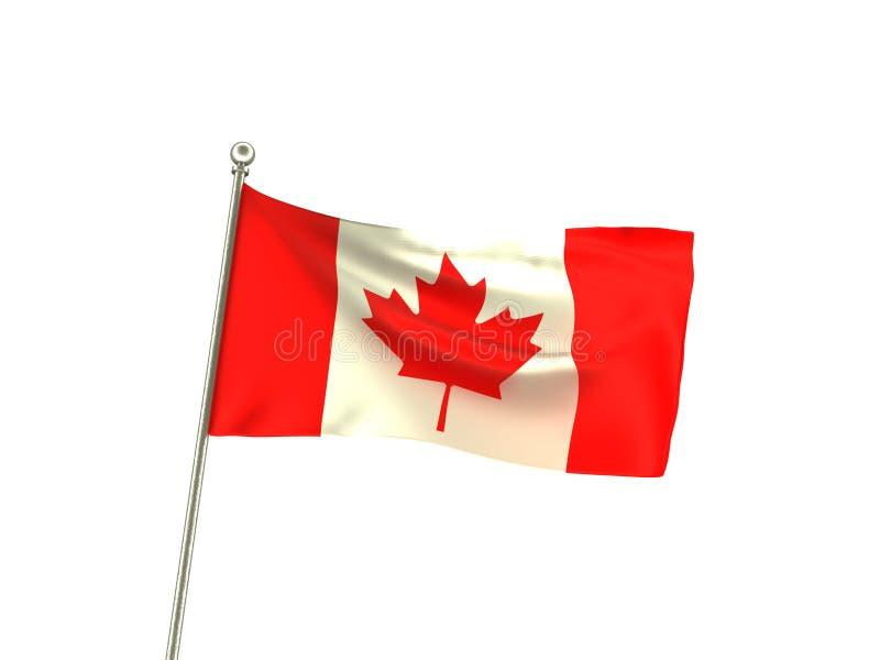 Krabb Kanada flagga royaltyfri illustrationer