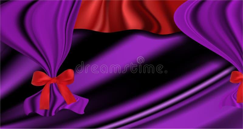 Krabb lyxig satängbakgrund eller textur för siden- tyg royaltyfri illustrationer